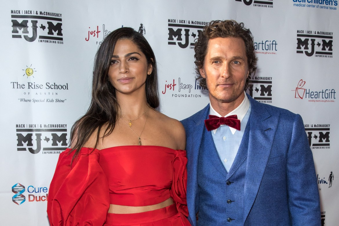 Matthew with his wife Camila Alves whom he married in 2012