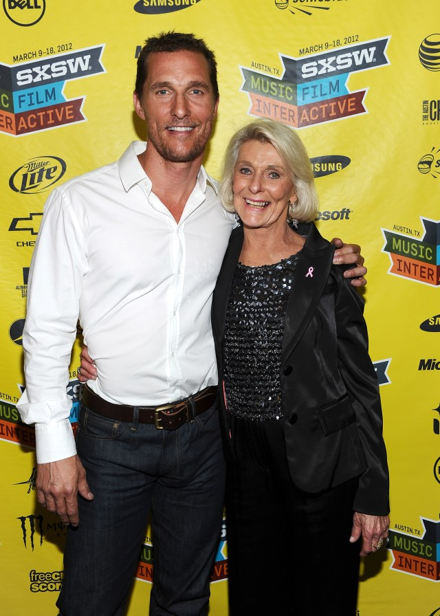 Matthew McConaughey with his mom Kay at the SXSW festival