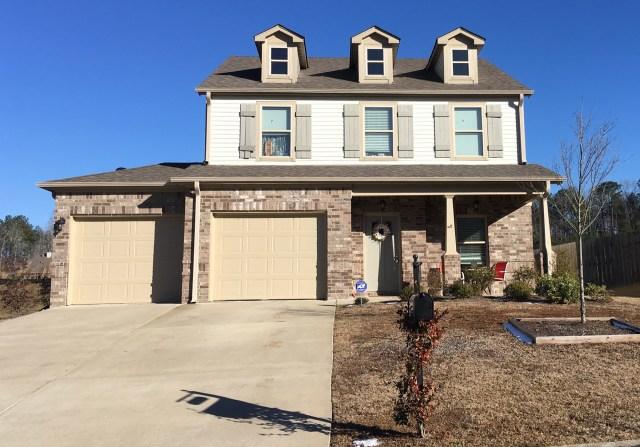 The home of homicide victim Kathleen Dawn West in Calera, Alabama