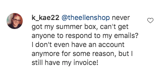 'I never had my summer box,' one person wrote