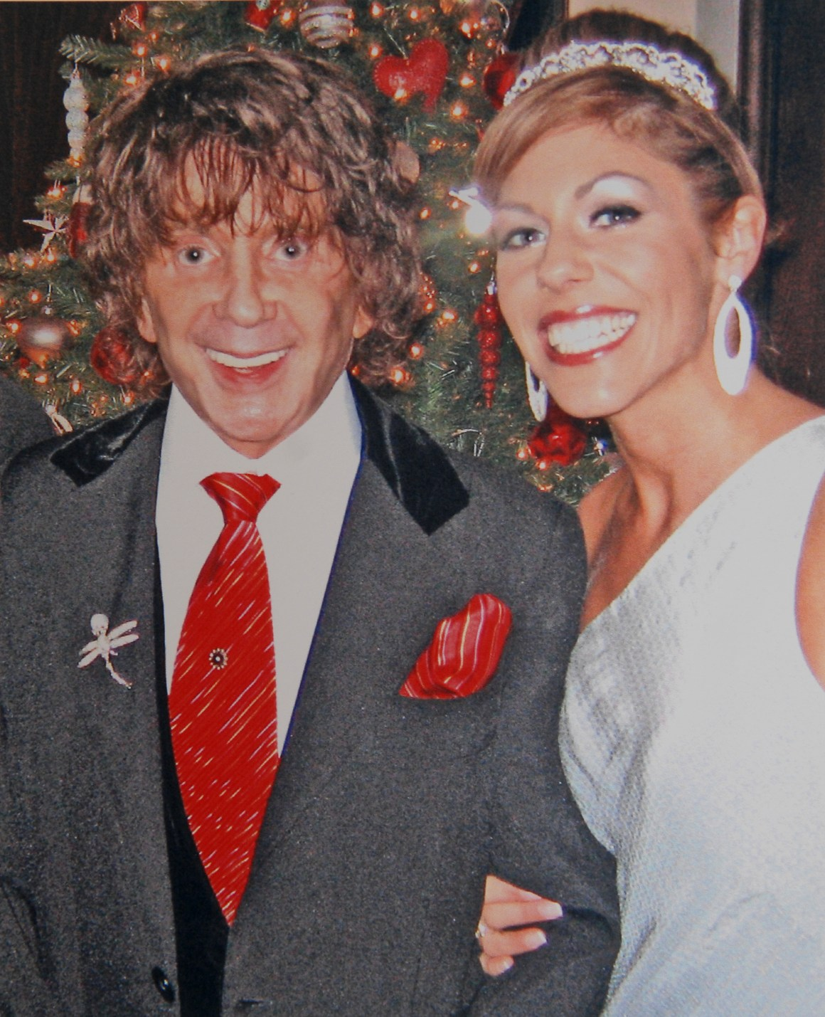 Phil and his third wife Rachelle; the couple later divorced