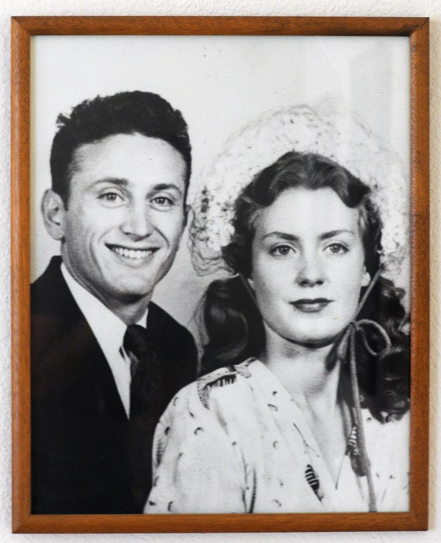 Vincent with Peter's mom, his first wife Betty