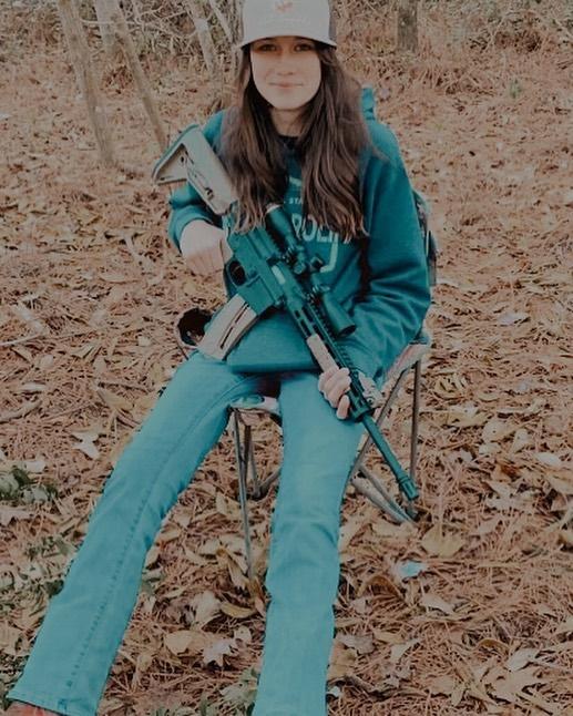 Maryssa has shared photos with a massive shotgun