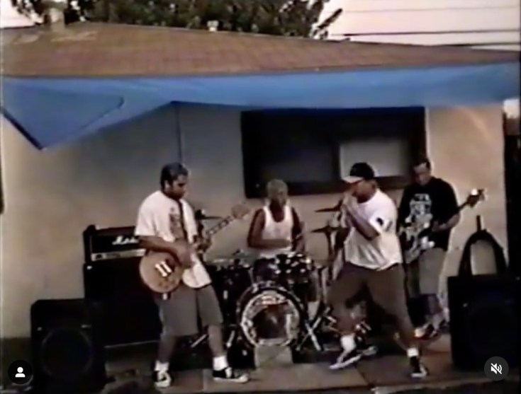 Travis previously shared a video of his first band performing