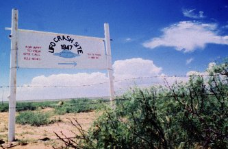 The site of the Roswell crash