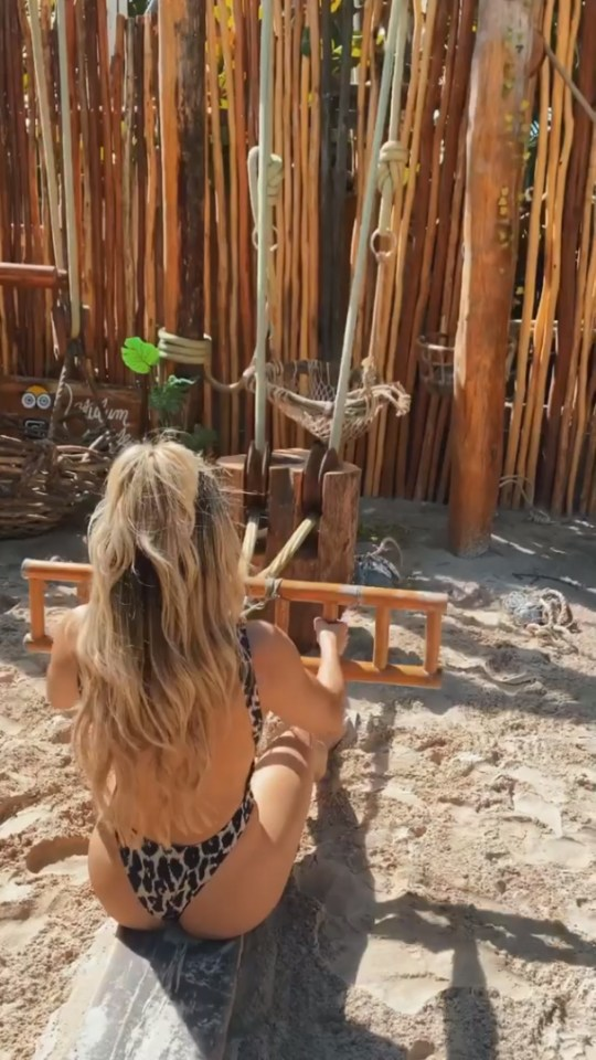 Conti appeared to enjoy her beach session in Mexico