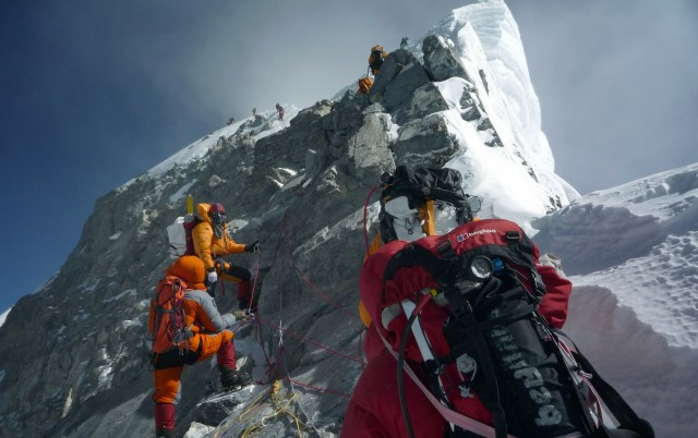 Climbers at Mount Everest