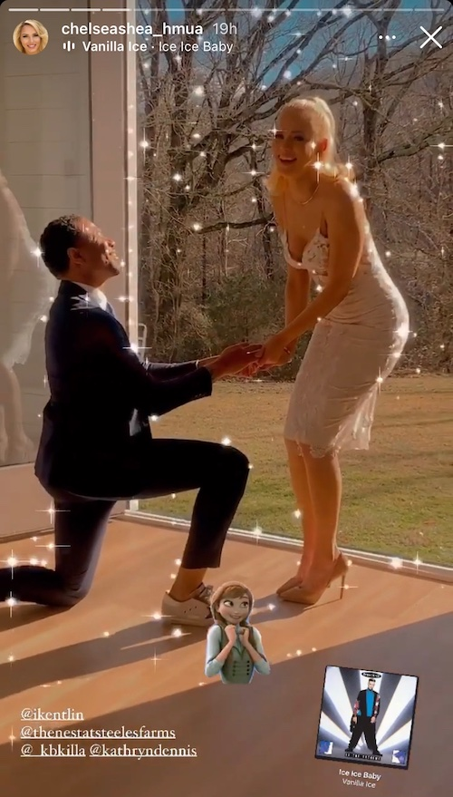 Chleb appeared to propose to Kathryn