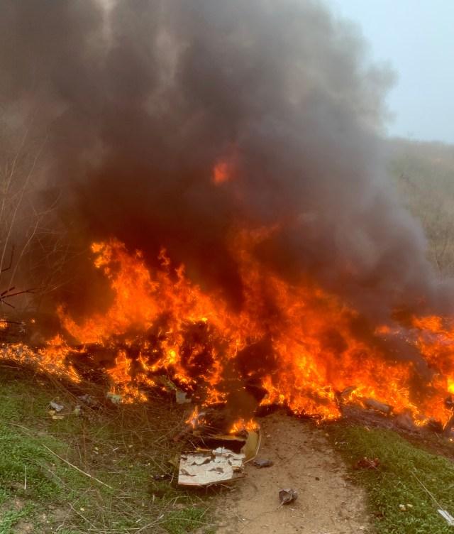 Their helicopter crashed into a hillside near Calabasas, California