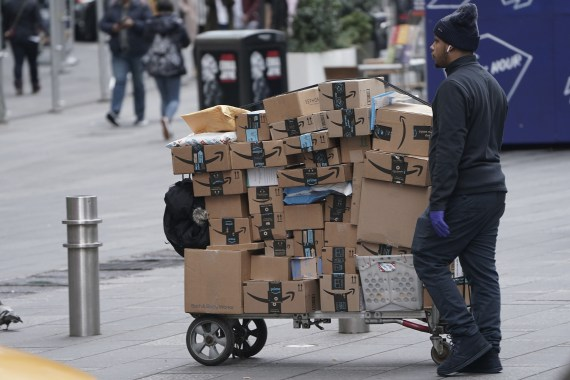 Amazon delivery workers sometimes have to deliver up to 300 packages a day