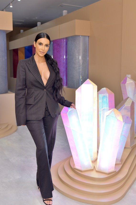Kim Kardashian West attends the KKW Beauty Pop-Up at South Coast Plaza on December 4, 2018 in Costa Mesa, California