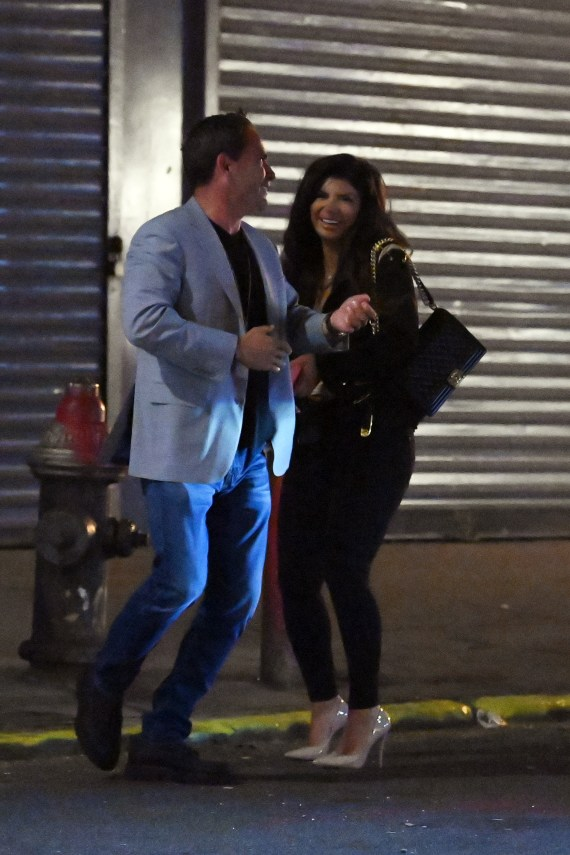 Teresa was seen giggling with her new man on a night out in New York this week