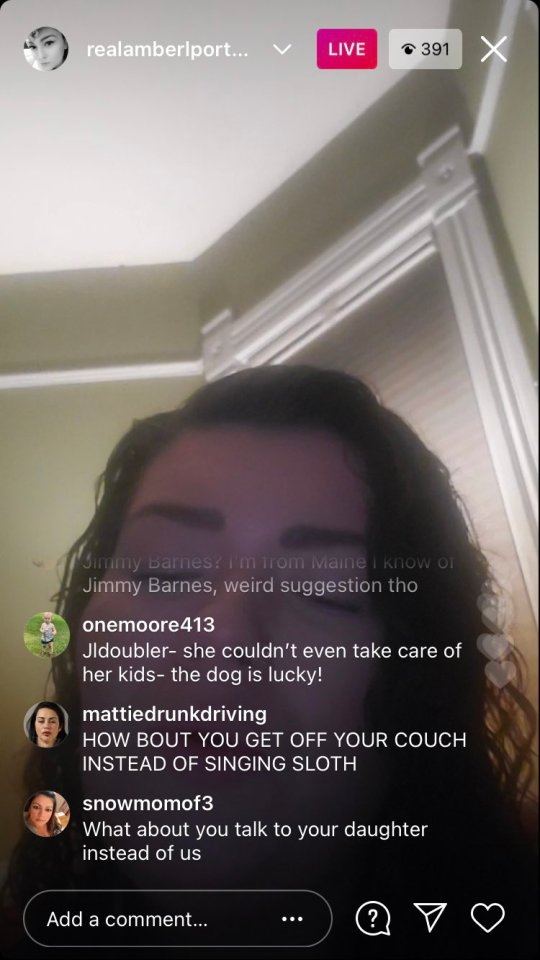 She had hopped on Live when trolls began to slam her