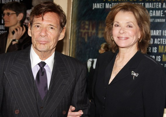 Jessica Walter pictured with her second husband, Ron Liebman
