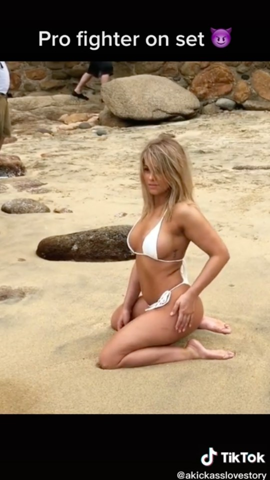 Paige VanZant posed on the beach during her Sports Illustrated photo shoot