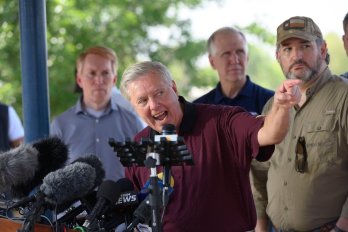 Graham blasted President Joe Biden, saying he owes Border Patrol agents an apology over the migrant surge
