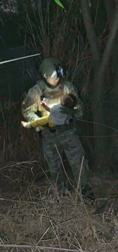 Texas Rangers were able to rescue a 6-month-old baby who was dropped in the Rio Grande