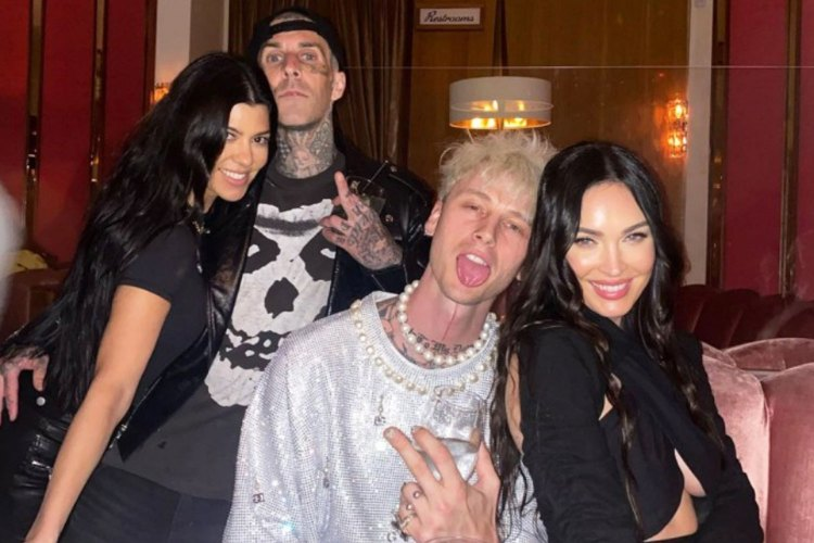 Kourtney Kardashian and boyfriend Travis Barker join Megan ...