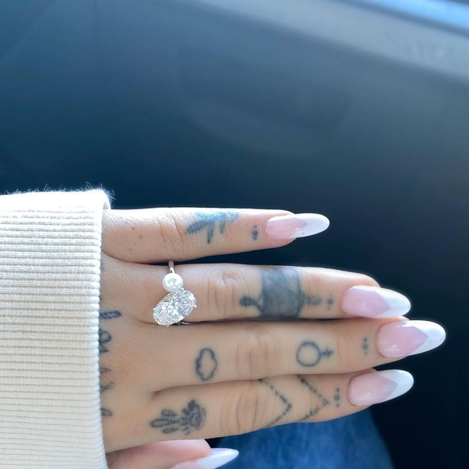 The couple got engaged in December