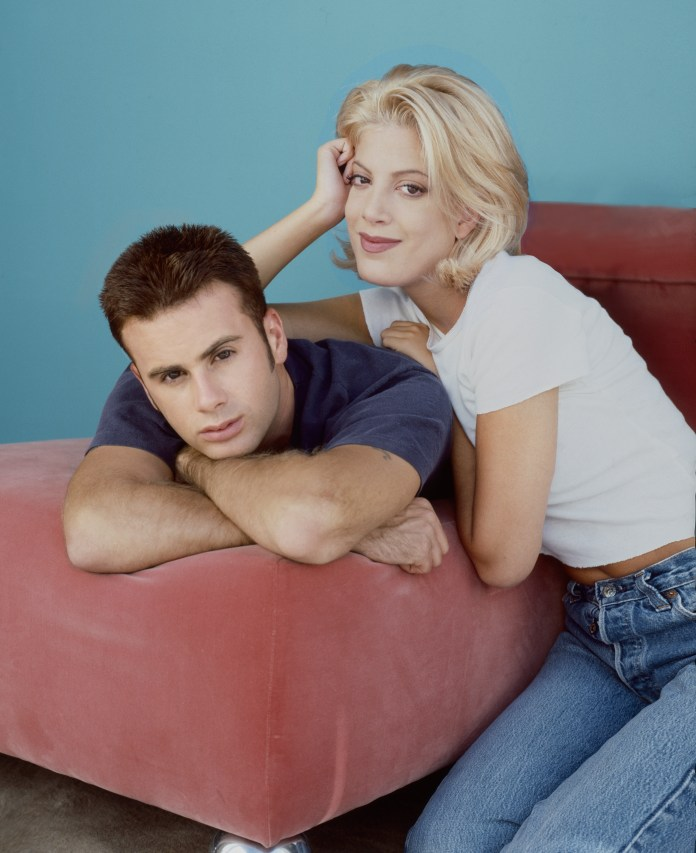 Beverly Hills 90210's Tori Spelling and Jamie Walters