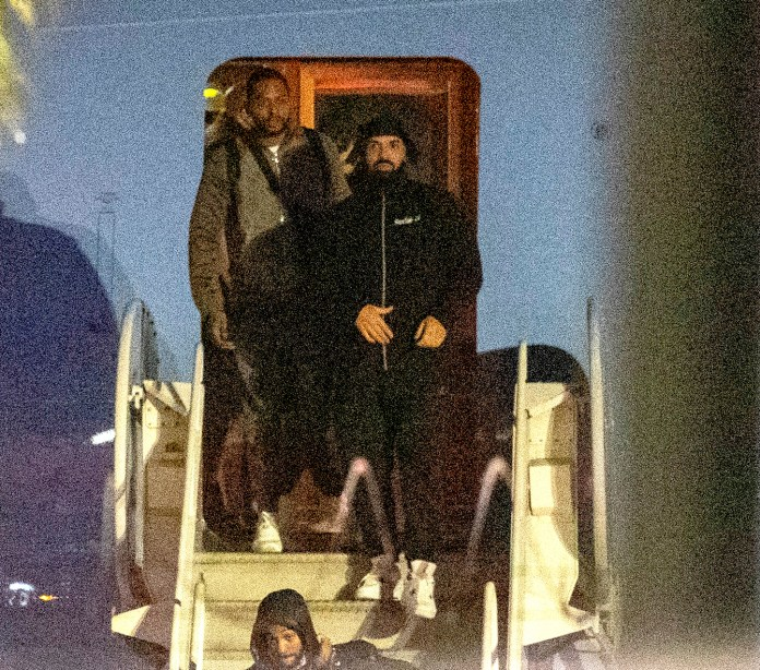 Drake was seen touching down in LAX after the horrifying ordeal