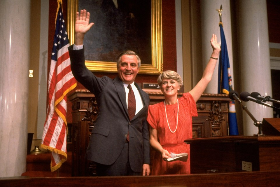Mondale chose Rep Geraldine Ferraro as a running mate in his own bid for the White House