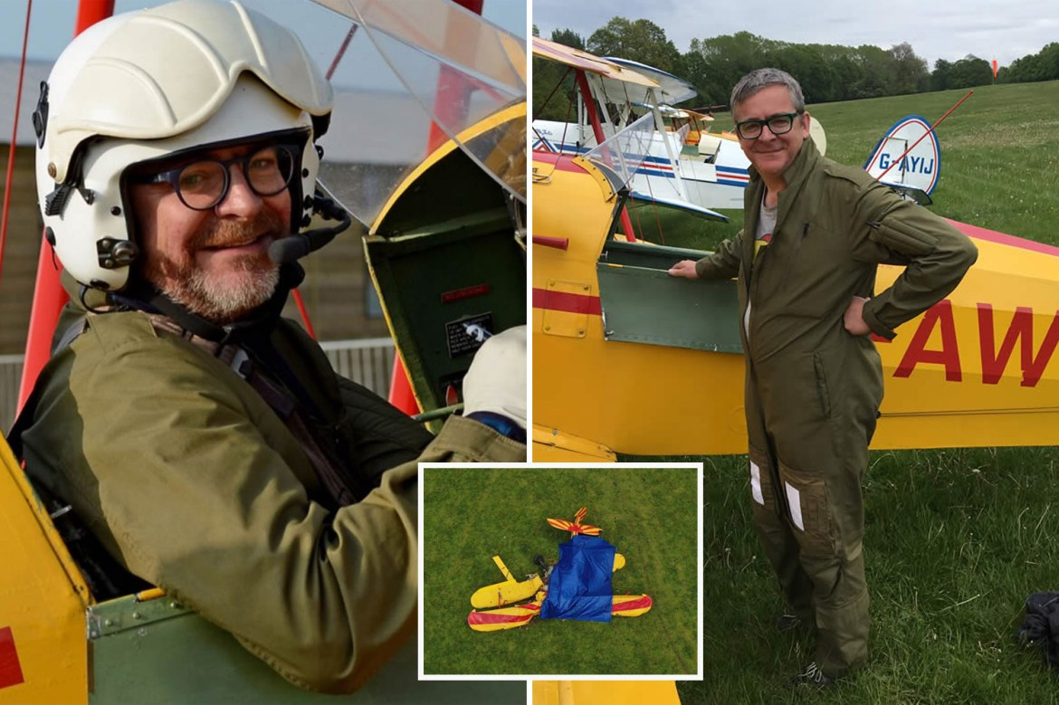 Experienced stunt pilot Angus Buchanan killed after plane 'lost control' during turn before crashing into field