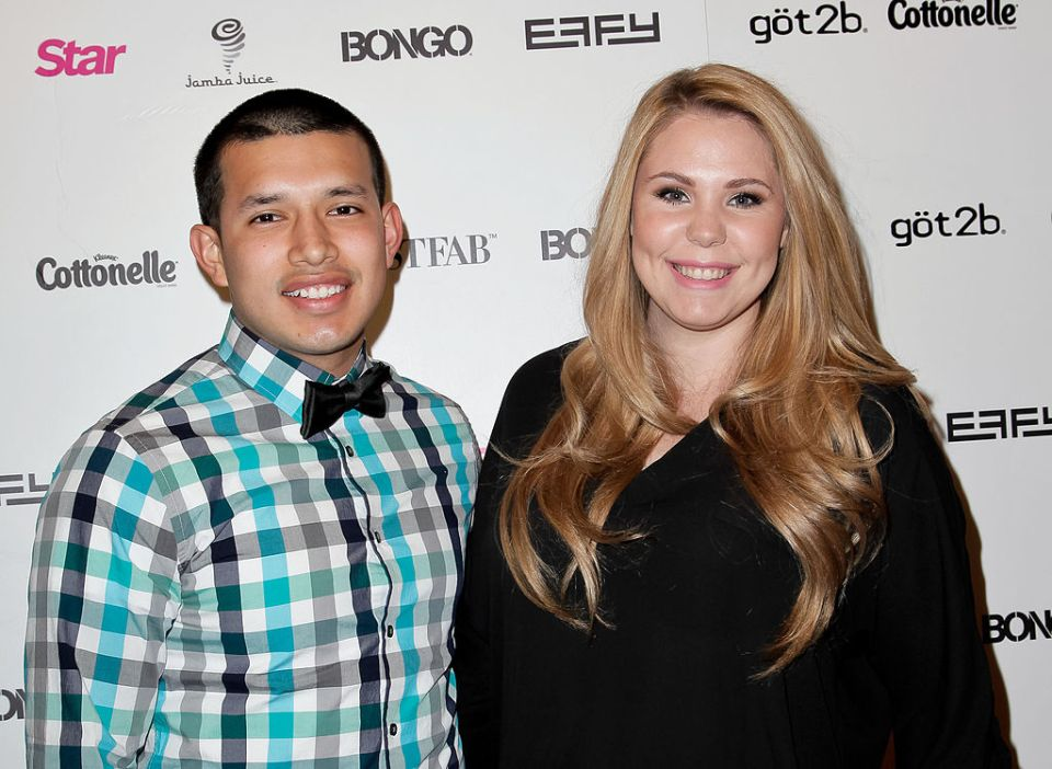 Javi and Kailyn posed together for a picture at an event