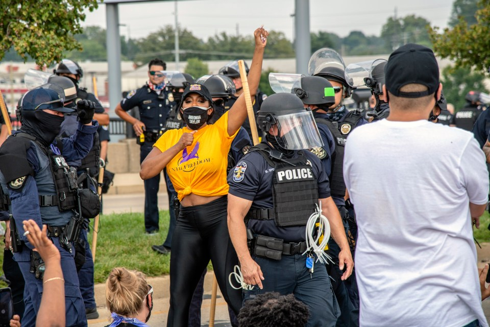Porsha attended and led several Black Lives Matter protests last year