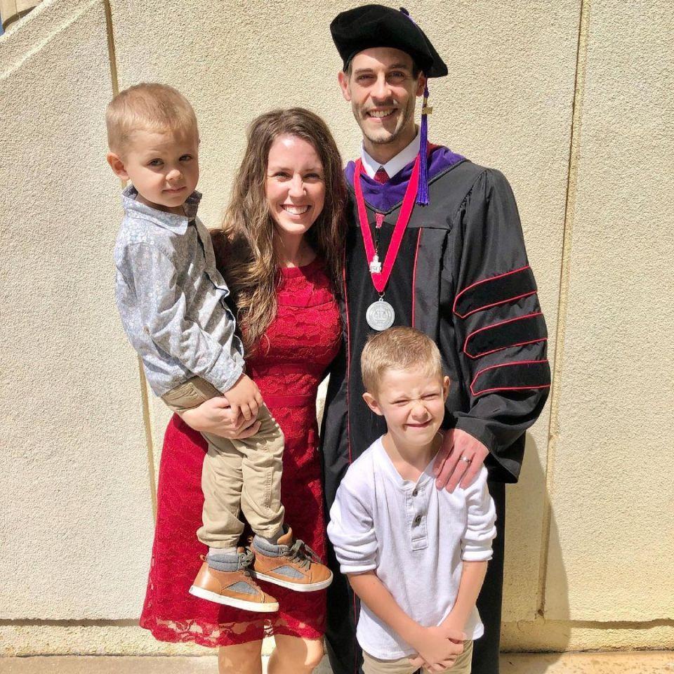 Jill Duggar attended her husband Derick Dillard's law school graduation on Saturday
