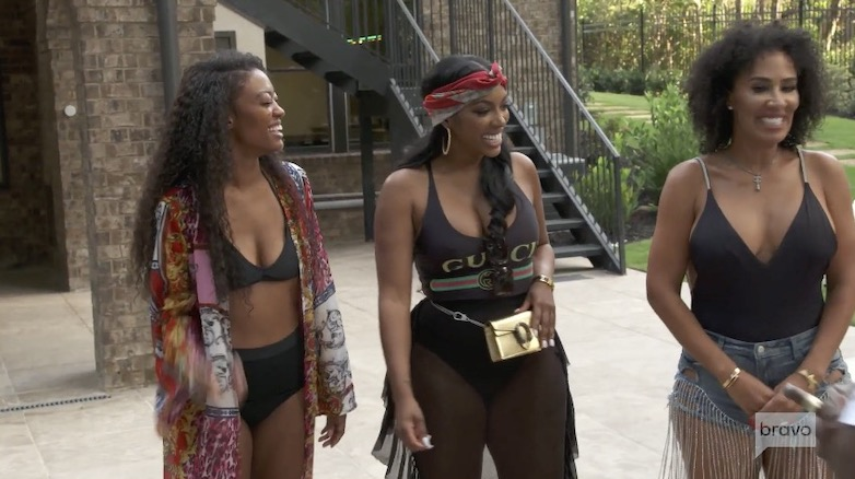 Porsha had been invited to Falynn's home with her sister and Tanya Sam
