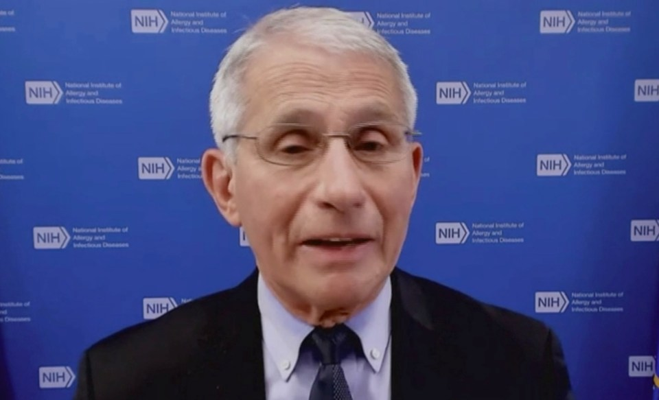Dr Anthony Fauci has said vaccinated Americans don't need to wear masks outdoors