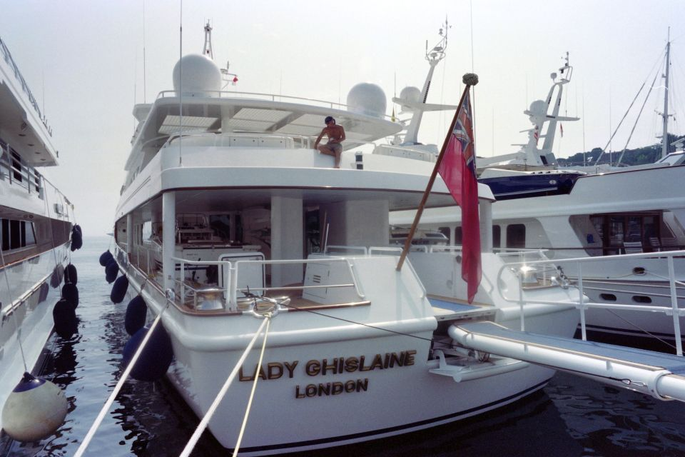 The late Robert Maxwell's yacht was aptly named Lady Ghislaine