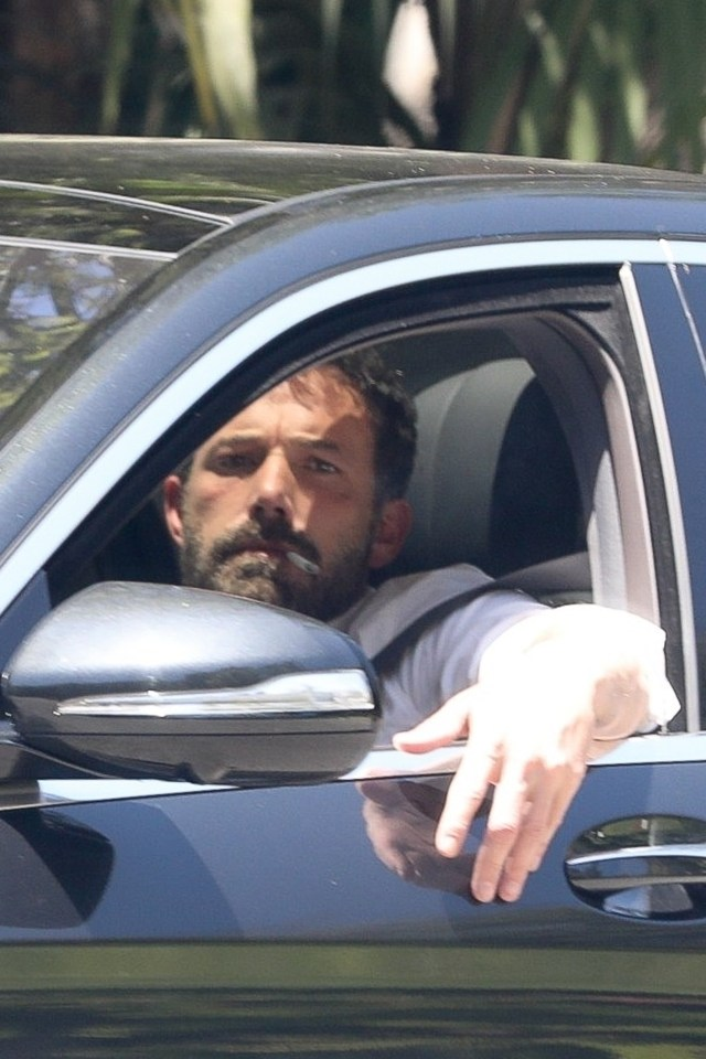 Ben Affleck was spotted leaving Jennifer Lopez's house on Saturday afternoon