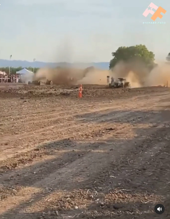 A crash at a mud-track event left 29 people injured