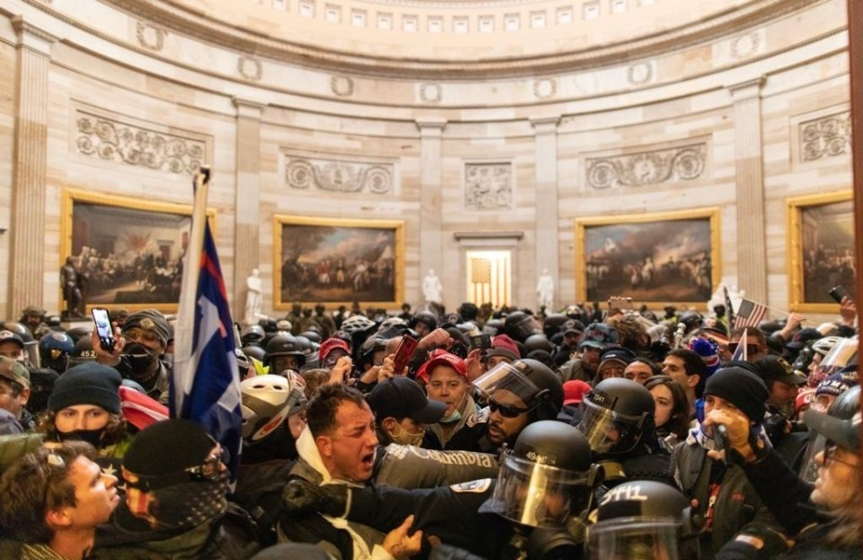 Capitol rioters are said to have come with 100 feet of the briefcase carrying the codes
