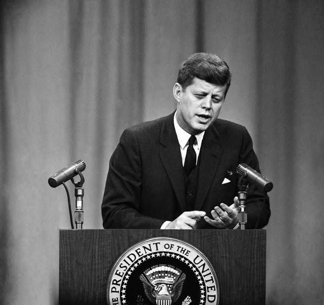 JFK's time in office was dominated by America's Cold War tensions with the Soviet Union