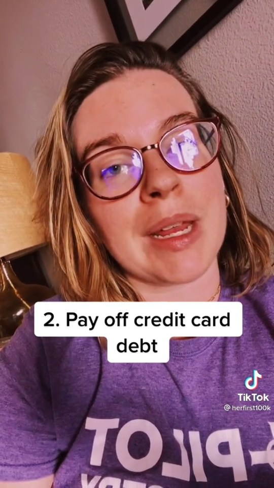 She told fans to pay off their credit cards as soon as possible