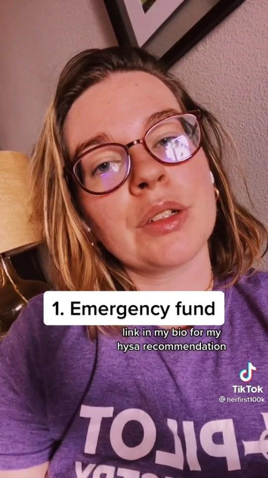 Tori Dunlap revealed she has everything as automatic savings