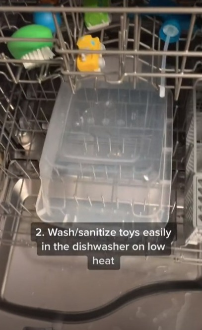 She told followers to wash them in low heat