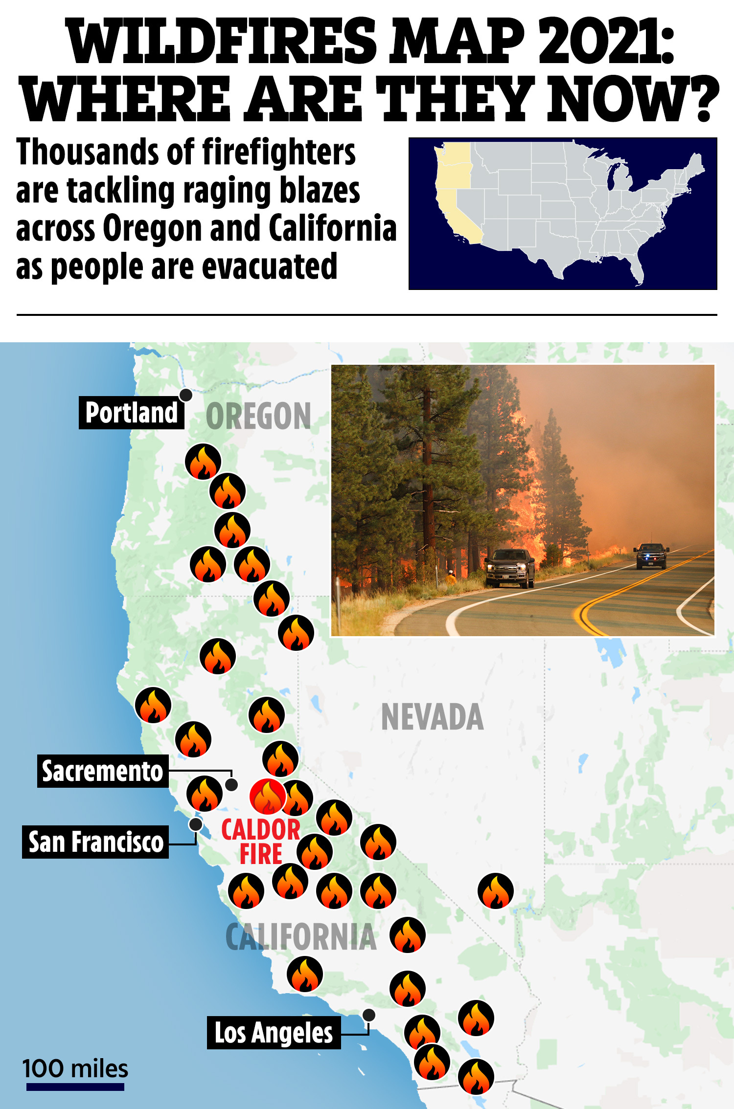 June 29, 2021 at 8:35 a.m. Wildfires Map 2021 Where Are They Now