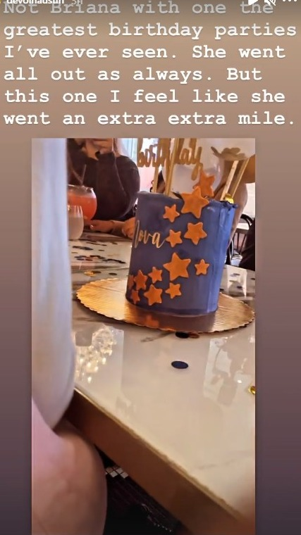 Devoin said that Briana went an 'extra extra mile' for Nova's party