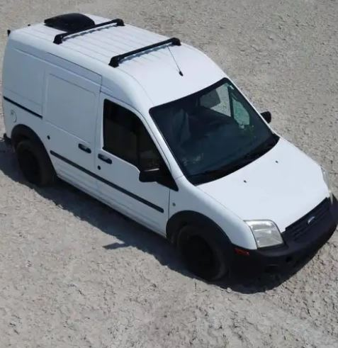 The couple had been traveling across America in a white Ford Transit van