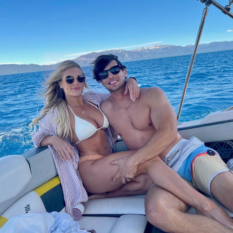 Back in June, the TV star shared a series of sweet snaps cuddling on a boat with her new, unnamed, mystery man