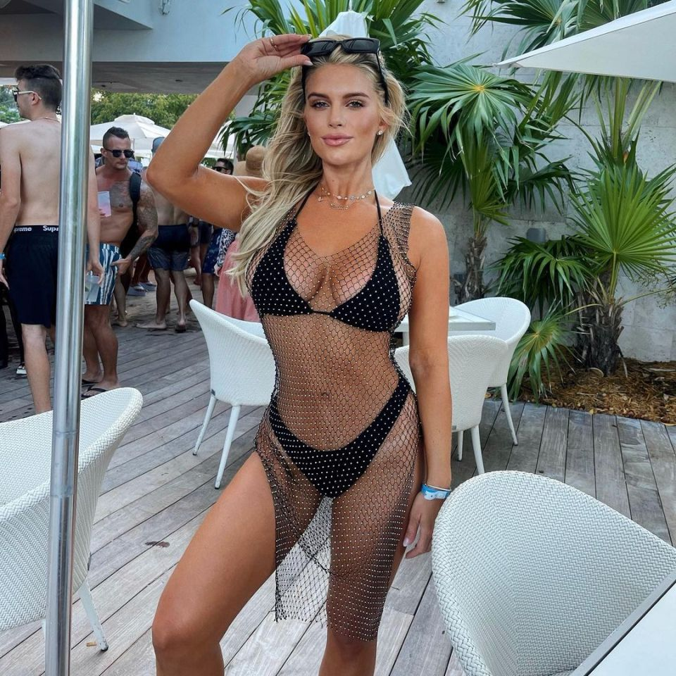 Earlier this month, Madison looked incredible in a tiny black bikini on a Miami getaway with her girlfriends