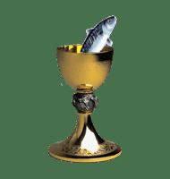 De kelk waar een vis uit opspringt symboliseert het onderbewuste