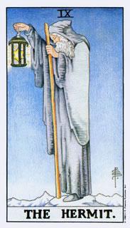 Betekenis van de tarotkaart De Kluizenaar