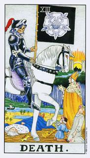 Tarotkaart nr:13 De Dood Rider Waite Tarot