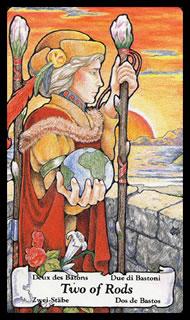 Betekenis Tarotkaart Staven Twee