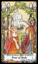 Betekenis Tarotkaart Staven Vier